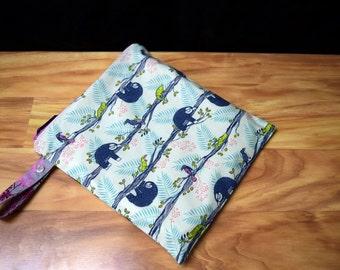 Sloths~Lazy~Honeymoon Wet Bag~Wash Bag, Dry Bag PUL Lining Travel Bag~lingerie bag or Swim or Baby