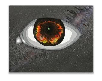 Oasis V, Original Acrylic and Resin Painting, Handmade by MENGXUAN LIU