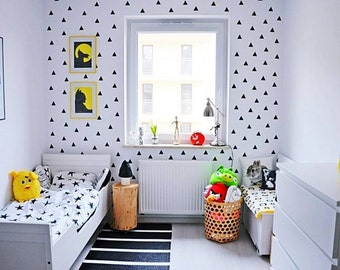 Triangle wall decal, Triangles Pattern, Triangles nursery decals, geometric wall decal, triangle wall stickers, wall decal nursery    #031