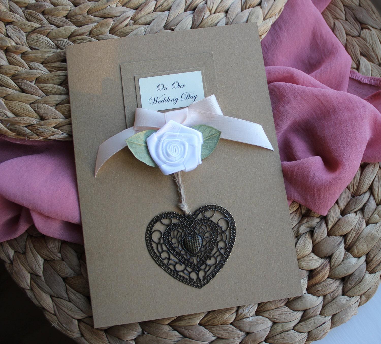Wedding Congratulations Card Shabby Chic Handmade