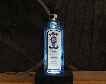 Gin Bottle Lamp Etsy
