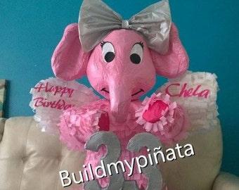 "Elephant pinata, 3D. 26"" tall."
