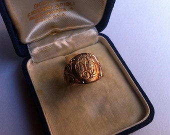 Victorian ring gold fill, ring-Ring vintage antique Victorian jewels, gilt, vintage jewellery, antique rings