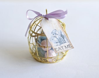 Gold Bird Cage Favour x50