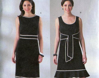 FREE US SHIP Butterick 4186 Chetta B Back & Over Wrap Dress Size 8 10 12 Bust 30 31 32 Sewing Pattern Factory Folded Unused Out of Print