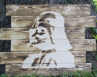 Darth Vader Wall Art, Star Wars Wall Art, Darth Vader, Star Wars, Wall Art, Wall Decor, Man Cave, Rustic