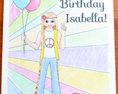 custom american girl doll birthday party coloring page julie albright inspired customizable handmade instant download