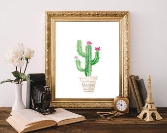 Instant Download Printable Art, Cactus print, Succulent Print, Wall Decor Living Room, Poster Download, Dorm Decor, Dorm Room, Wall Prints