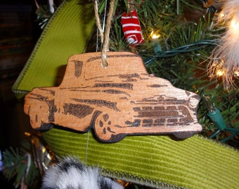 55 Chevy Pickup Truck Christmas tree ornament