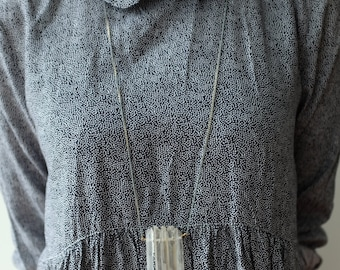 Five Quartz Necklace and two toned chain
