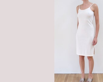 Vintage Ribbed Dress >> minimalist >> XS >> late 80s early 90s