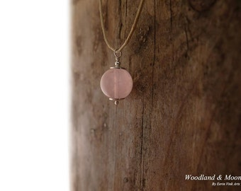 Gemstone necklace, Rose Quartz pendant, pink gemstone jewelry, sterling silver, 16 18 20 22 or 24 inch