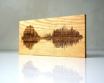 Personalized Wood Wall Art soundwave wall art custom wood burned art personalized wooden