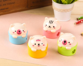 Cute Animal Sharpeners / Kawaii Pencil Sharpeners / Cute Pencil Sharpeners / Cute Stationery / Kawaii Stationery / Cute School Supplies