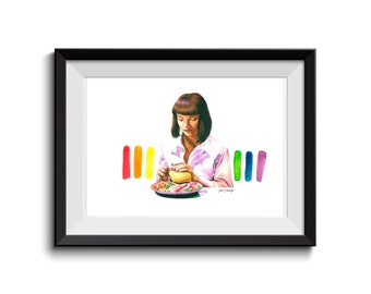 Pulp Fiction Mia Wallace Art Print