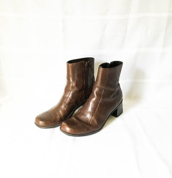 leather boots brown ankle boots s size 8 m by