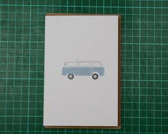 Volkswagen VW Camper Van Illustration A6 Greeting Card