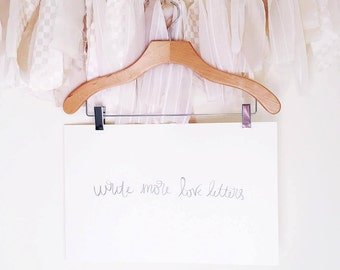 Write More Love Letters - Watercolour Hand-lettered Print