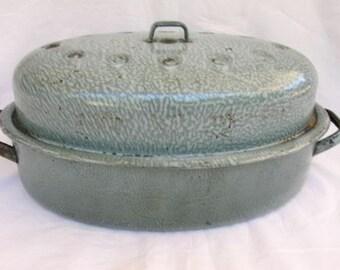 Graniteware Roaster Etsy