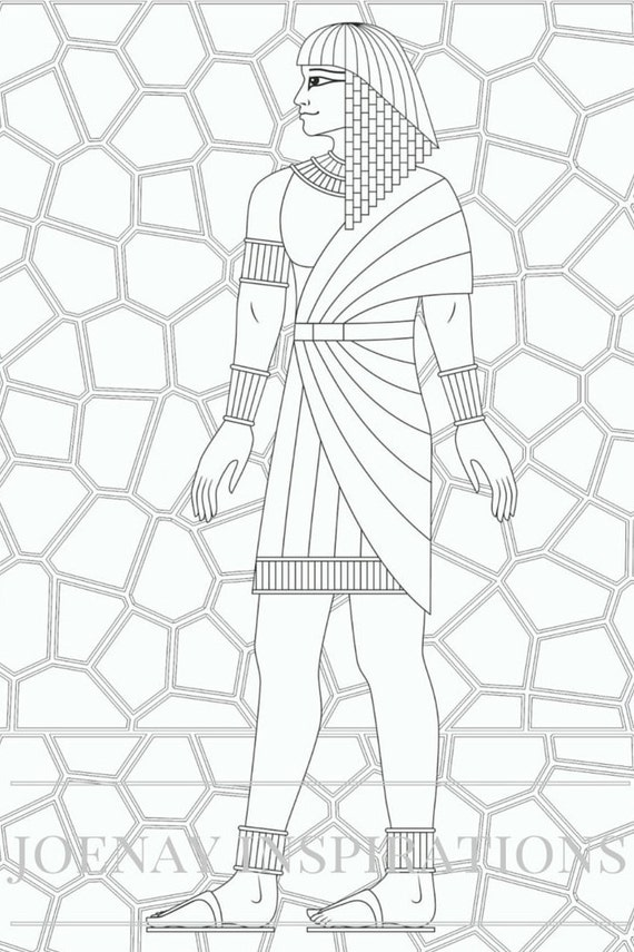Adult Coloring Book, Printable Coloring Pages, Coloring Pages, Coloring Book for Adults, Instant Download, Egyptian 2 page 11