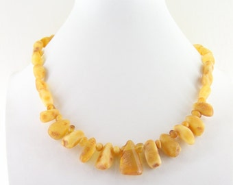 "Natural Amber Necklace Honey Colour - 18,1""   21 gr"