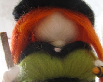 Halloween decorations, Halloween ornament, Wool witch, Needle Felted witch, Witch mobile, Gift for her, Nursery decor, Nature mobile