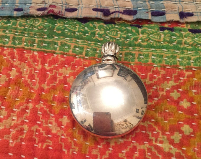 Solid Silver Perfume Scent Tiny Flask/Bottle