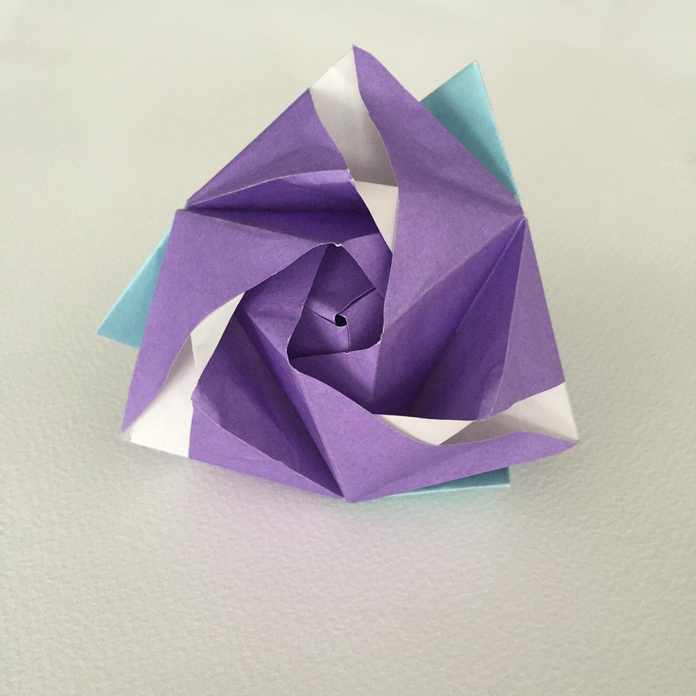 Origami Magic Rose Cube - photo#24