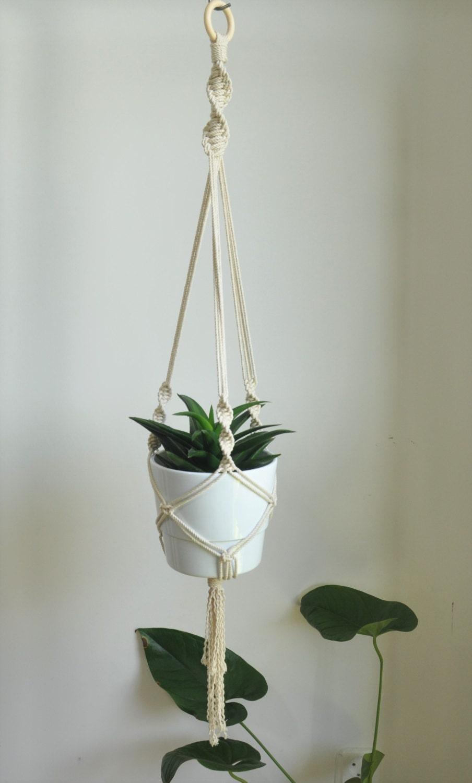 hanging planter macrame rope plant holder macrame planter. Black Bedroom Furniture Sets. Home Design Ideas