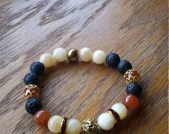 semiprecious gemstone handmade bracelet