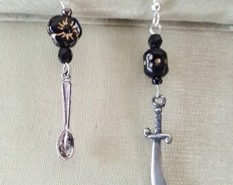 Spoon and Scimitar Earrings