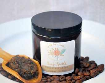 FRIENDS COFFEE SCRUB | Mother's Day Gift | Gift for Her | Organic Fair Trade Coffee | Vegan Body Scrub | Exfoliating Scrub | Sugar Scrub
