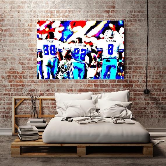 Dallas Cowboys Football Canvas Wall Art: Dallas Cowboys Dallas Cowboys Wall Art Print By