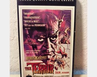 The Terror Boris Karloff Classic Horror VHS tape 1963 Color and Vistascope