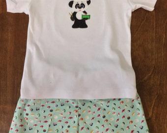 12 Month Shorts Set -- Sushi Panda
