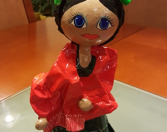 Doll paper mache