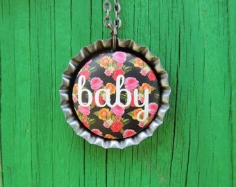 Baby Bottle Cap Necklace