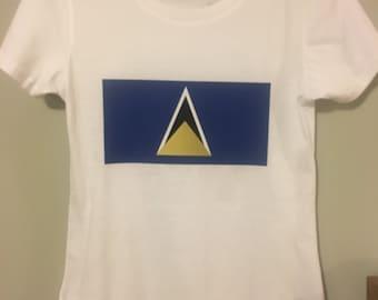 St Lucia Flag Inspired T-Shirt