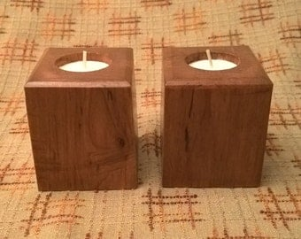 Tea Light Candle Holder Set - Cherry