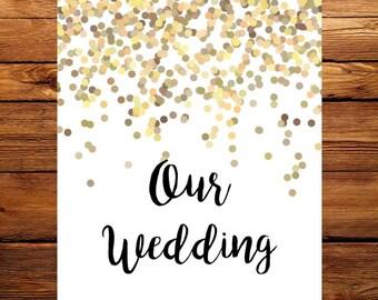 Gold Confetti Wedding Planner Printable