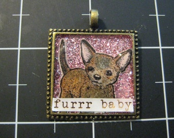 Chihuahua Pendant, Furrr Baby, 50% goes to the current focus animal charity