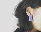 SALE - 1980's Bold Galaxy Stud Earrings