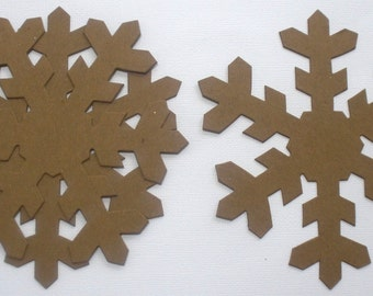 "Icicle Snowflakes  - Bare Christmas Snowflake Chipboard Die Cuts - 5"" inch"