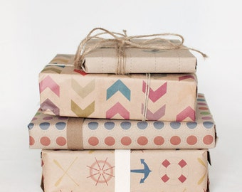 Pick & Mix | Wrapping Paper | Gift Wrap | 3 Sheets | Toodles Noodles