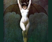 Bat Girl - The Blood of the Vampire - Albert Joseph Pénot ~ Halloween - Vampire ~ Giclee Fine Art Print -