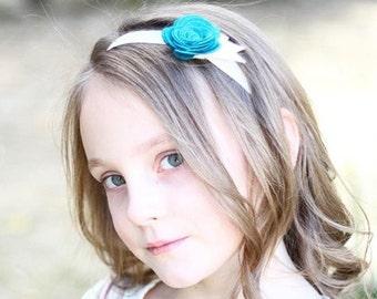 Kate - single large felt flower headband - you choose colors