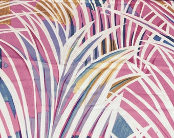 70s Thompson OF California// Zizzling Tropical// Palm Leaf Abstract Print//Brilliant Neon Colors//All Cotton//BTY