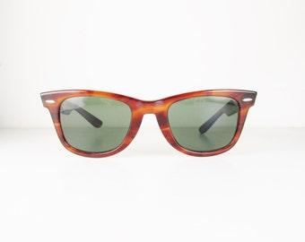 Vintage B&L Ray-Ban Wayfarer Tortoiseshell Sunglasses