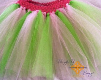 NEW PRODUCT pink and green little girl tutu
