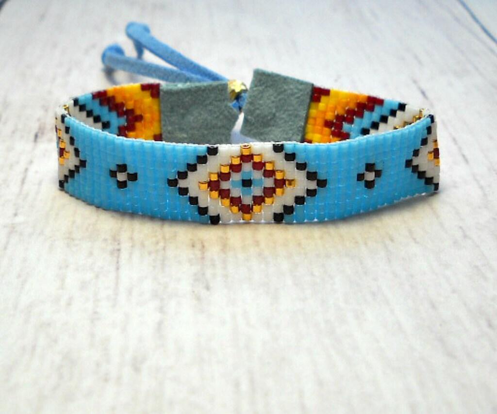 beaded bracelet bead loom bracelet adjustable bead